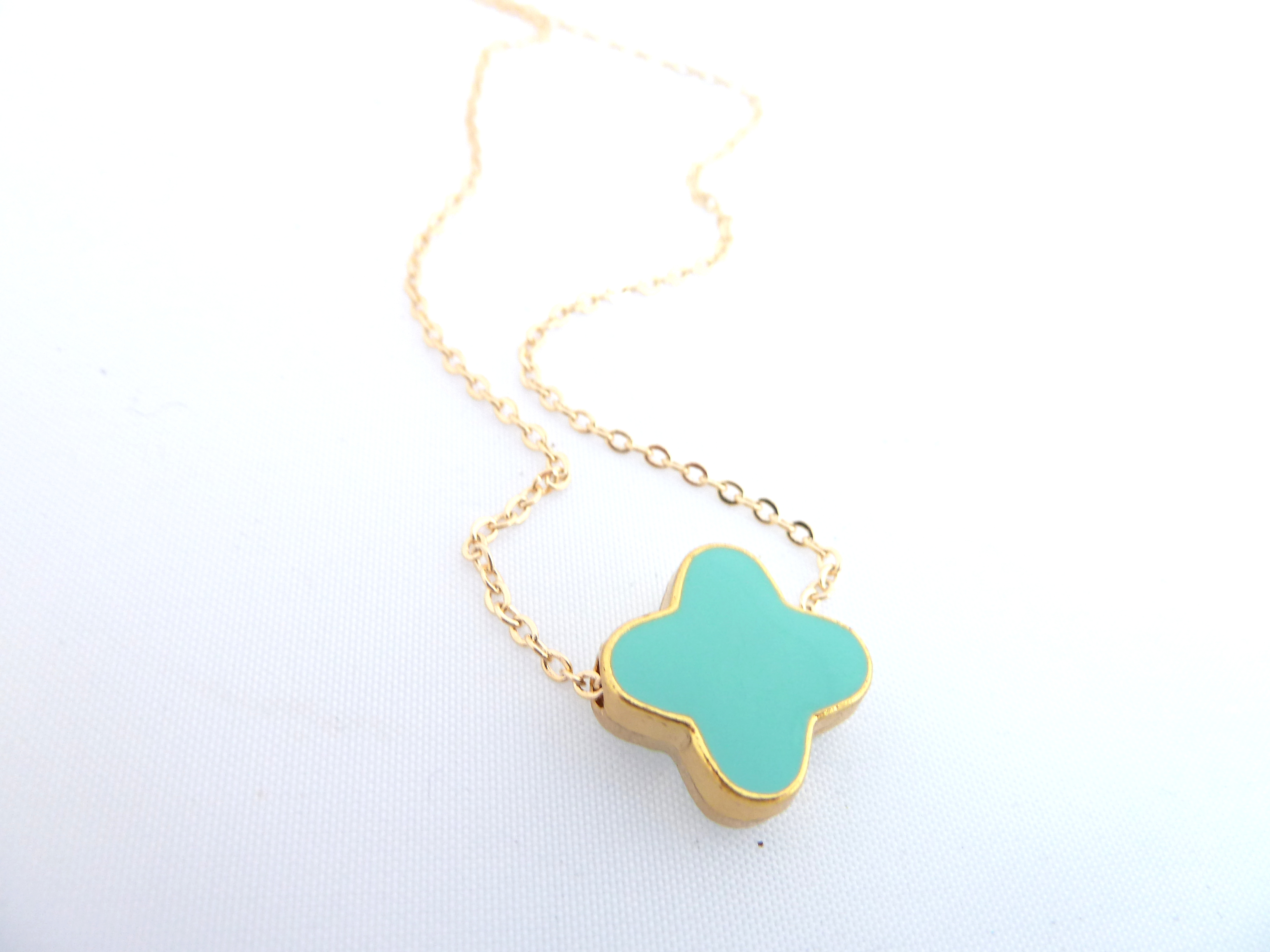 Tiffany blue turquoise tiny cross necklace on gold plated dainty tiffany blue turquoise tiny cross necklace on gold plated dainty chaindouble sided enameled cross audiocablefo