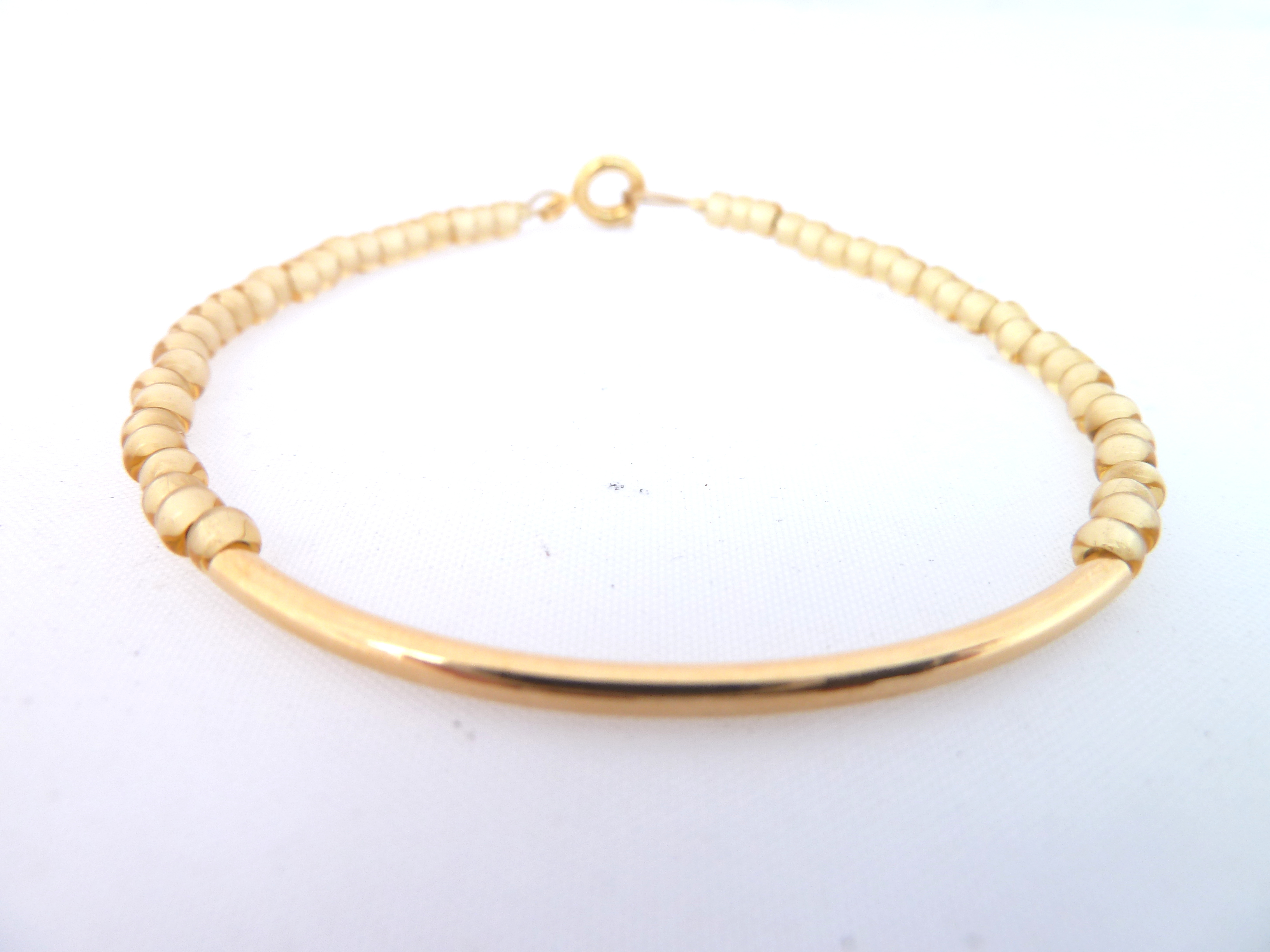 personalized fullxfull bar filled cydesignstudio products freshwater gold il initial bracelet pearl